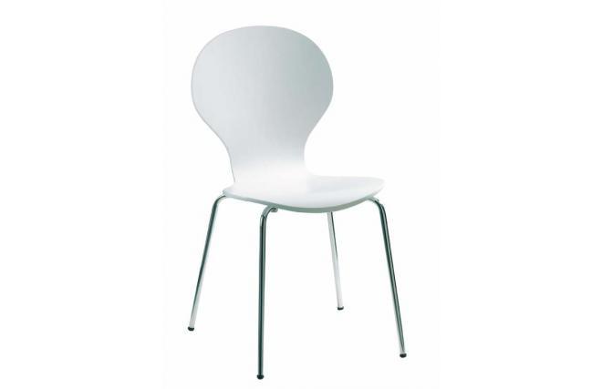4 sedie da cucina sala da pranzo abigail bianco miliboo - Sedie da sala da pranzo ...