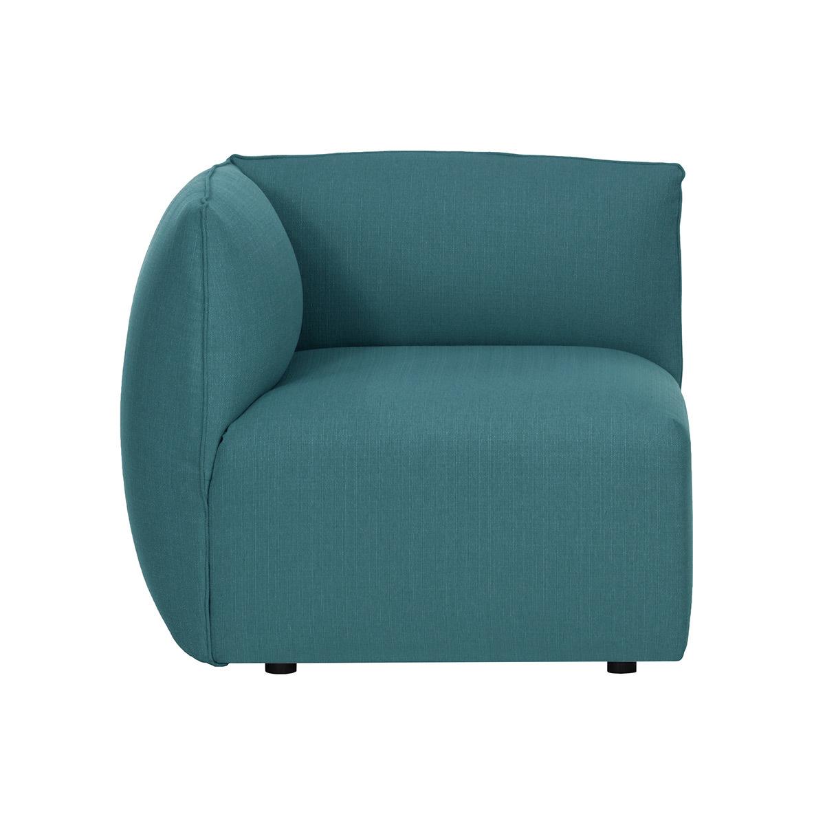 Angolo divano design in tessuto Blu anatra MODULO