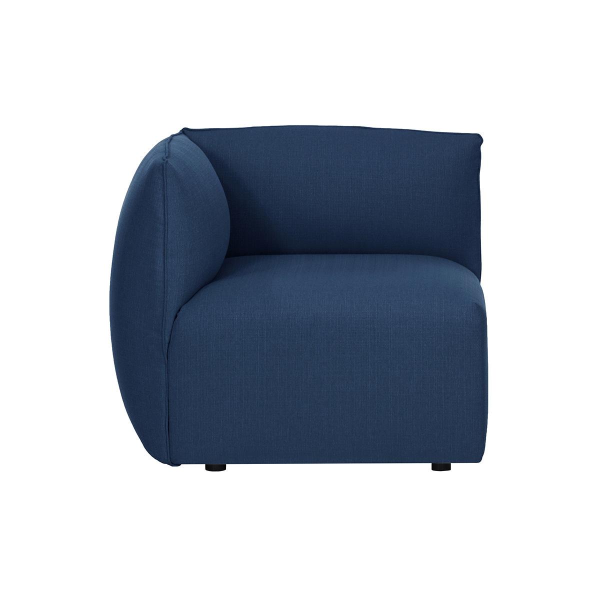 Angolo divano design in tessuto Blu scuro MODULO