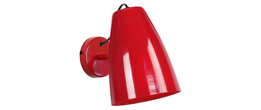 Applique da parete design in metallo Rosso FRIDAY