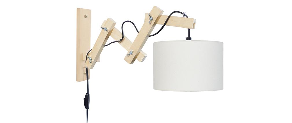 Applique da parete design snodata in legno ARMS