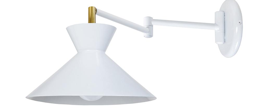Applique da parete snodata design Bianco LEEDS