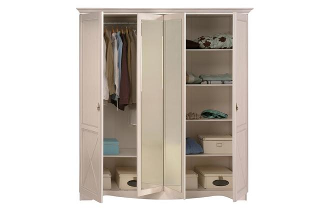 Armadio design bianco con specchio barok ( il prodotto non è più