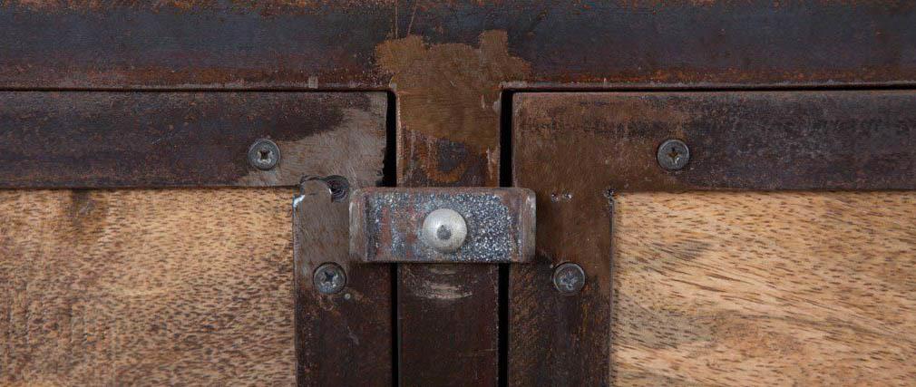 Armadio legno massiccio e metallo INDUSTRIA