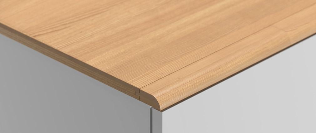 Armadio scandinavo bianco e legno chiaro MAHE