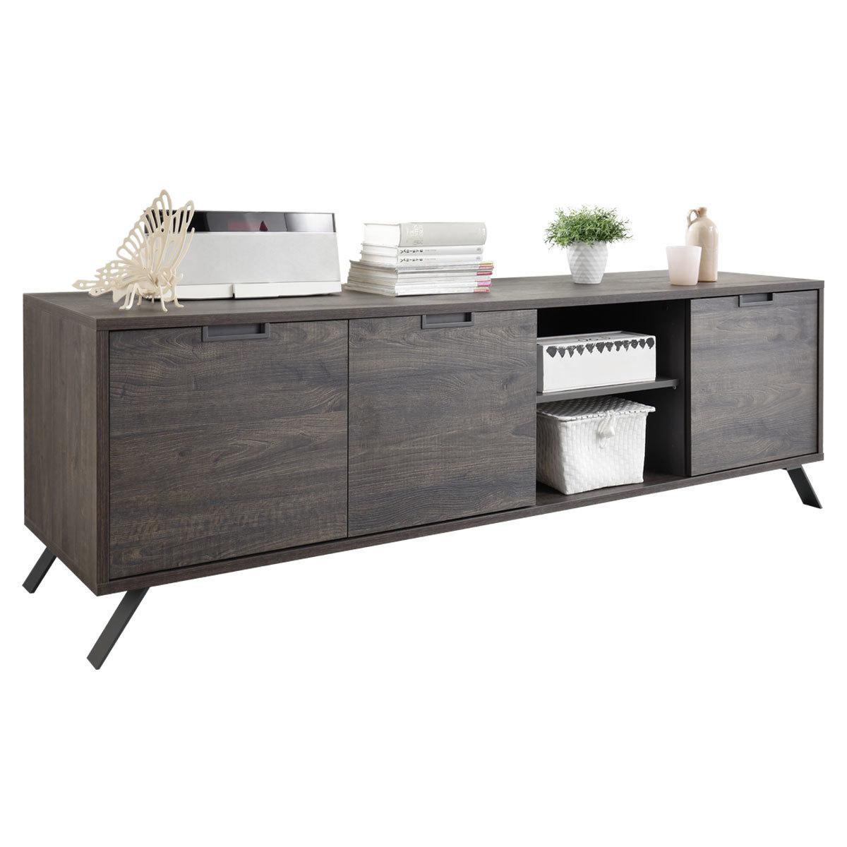 Buffet basso design 3 ante wengé ORIGIN
