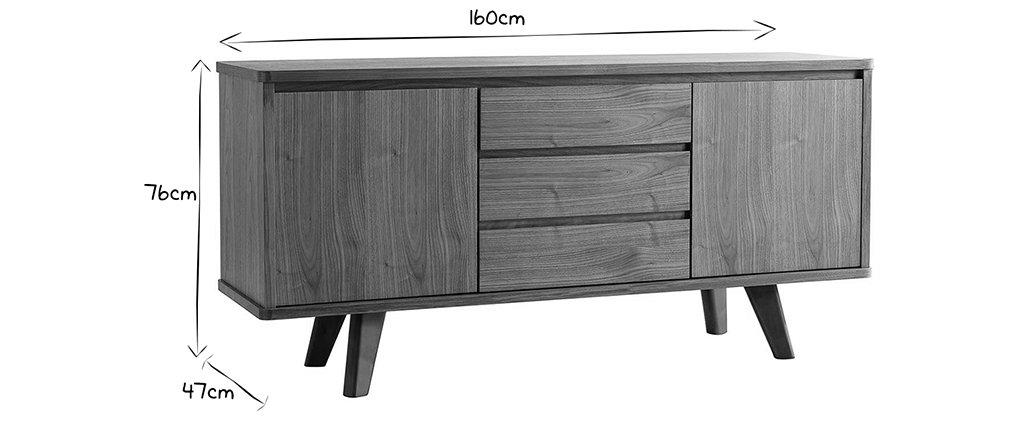 Buffet design in noce FIFTIES