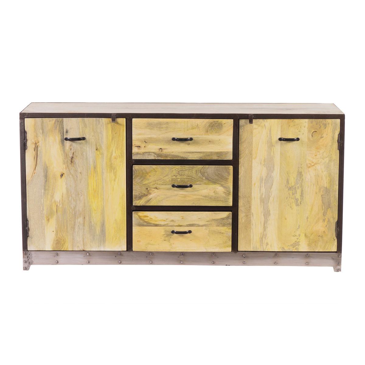 Buffet design industriale 160 cm legno massiccio INDUSTRIA