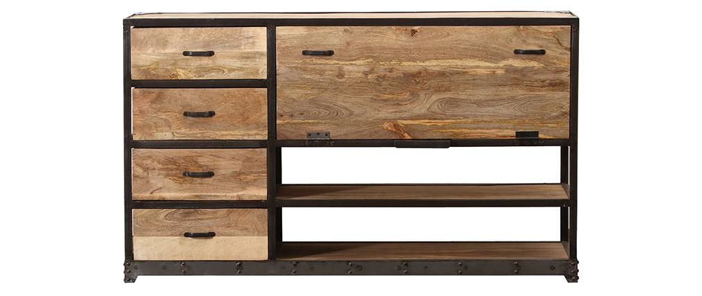 Buffet design industriale legno massiccio INDUSTRIA