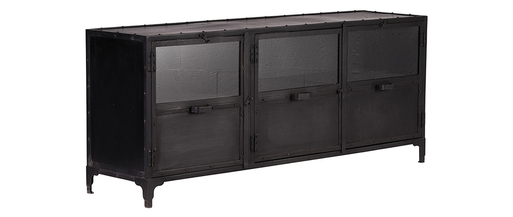 Buffet design metallo nero FACTORY