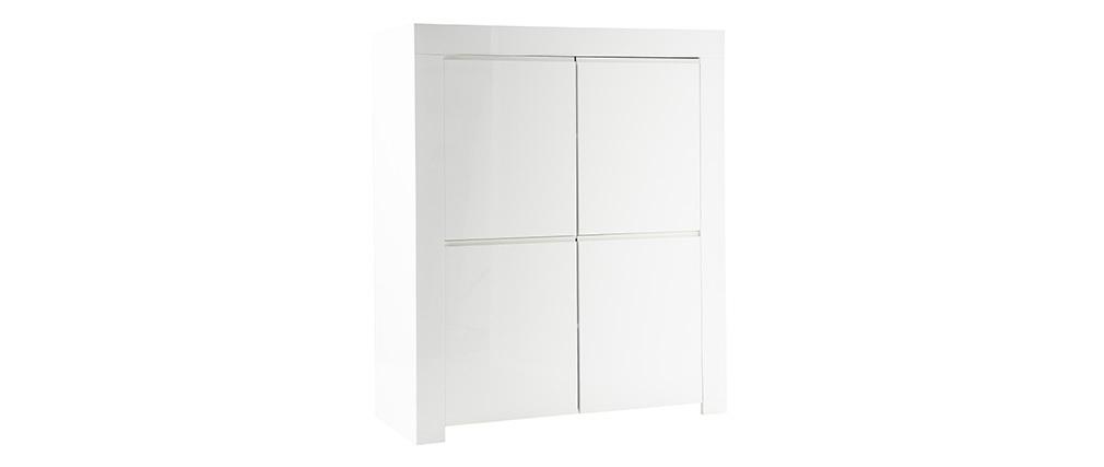 Buffet design quadrato 4 ante laccato bianco ERIA