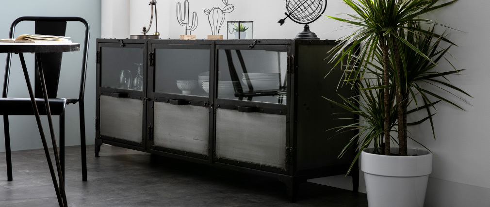Buffet in metallo stile industriale FACTORY