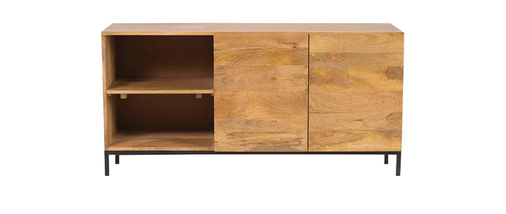 Buffet industriale legno di mango e metallo YPSTER