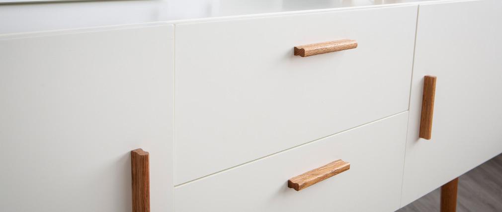 Buffet legno naturale e bianco 2 ante 2 cassetti GILDA