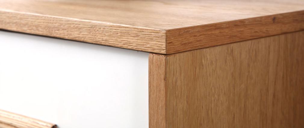 Buffet legno naturale e bianco 2 ante e 2 cassetti HELIA