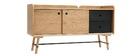 Buffet scandi giapponese quercia e grigio opaco 2 cassetti JAPANSK