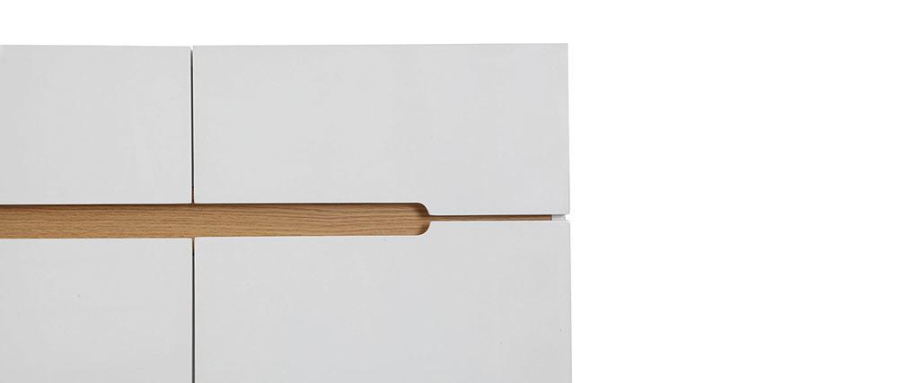Buffet scandinavo bianco e frassino 80cm MELKA