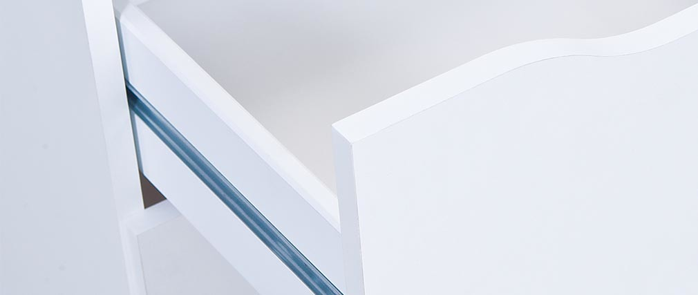 Cassettiera design 4 cassetti bianca DRAW