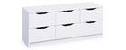 Cassettiera design 6 cassetti bianca DRAW