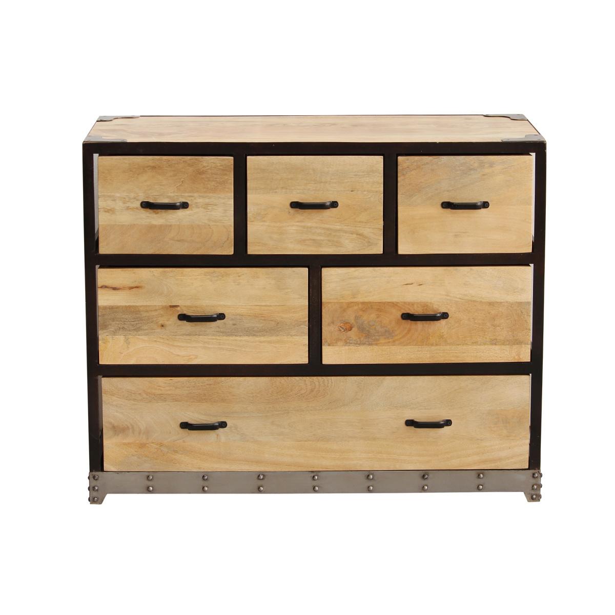 Cassettiera industriale legno massiccio INDUSTRIA