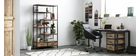 Cassettiera scrivania industriale legno massiccio INDUSTRIA