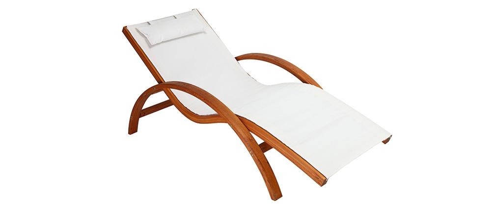 Chaise longue bianca BIARRITZ