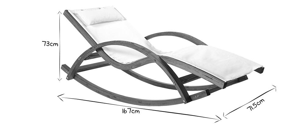 Chaise longue bianca GUERANDE