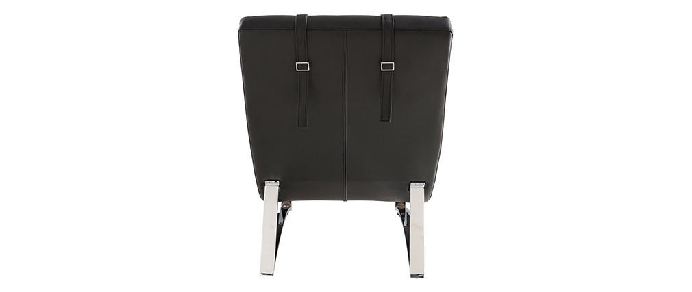 Chaise longue design nero MONACO