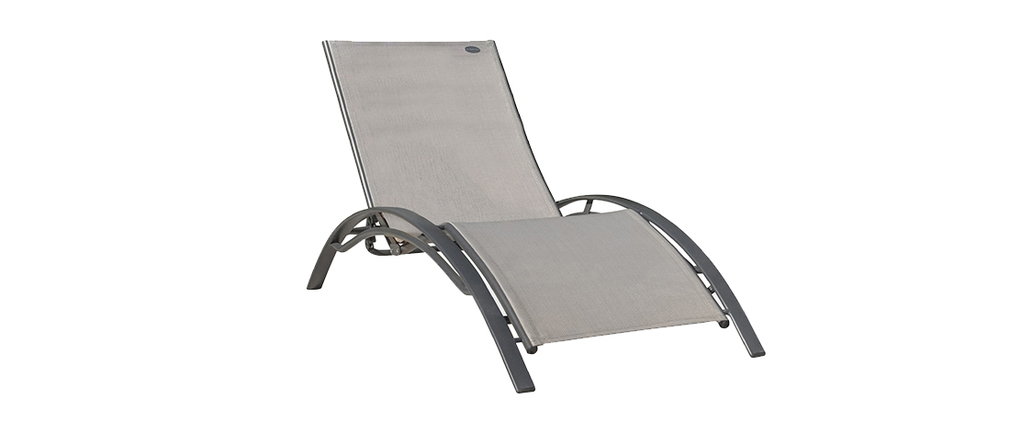 Chaise longue di design grigia SIERRA