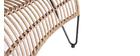 Chaise longue in fili di resina stile giunco BELLAVISTA