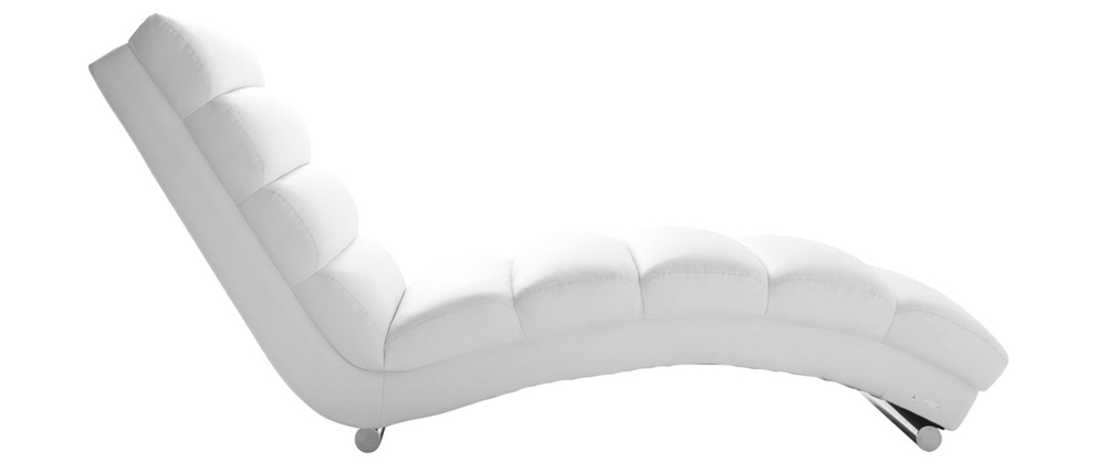 Chaise longue / poltrona design bianco TAYLOR
