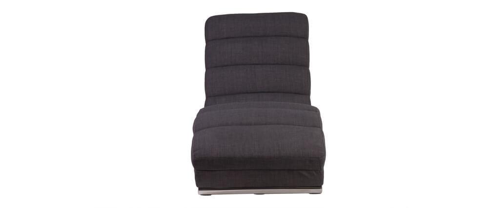 Chaise longue / poltrona design grigio TAYLOR