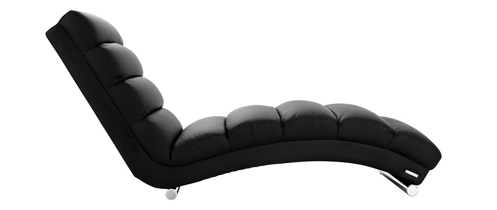 Chaise longue / poltrona design nero TAYLOR