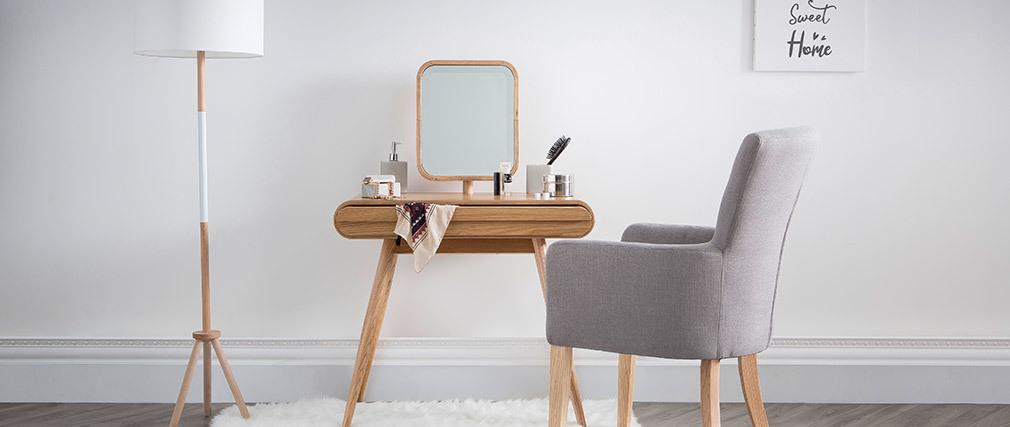 Coiffeuse design con specchio in frassino BJORG