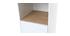 Colonna da bagno Bianco e legno TOTEM