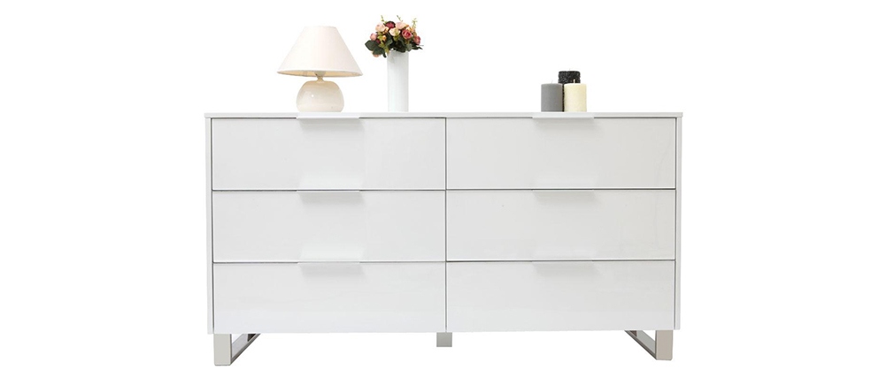 Como design laccato bianco HALIFAX