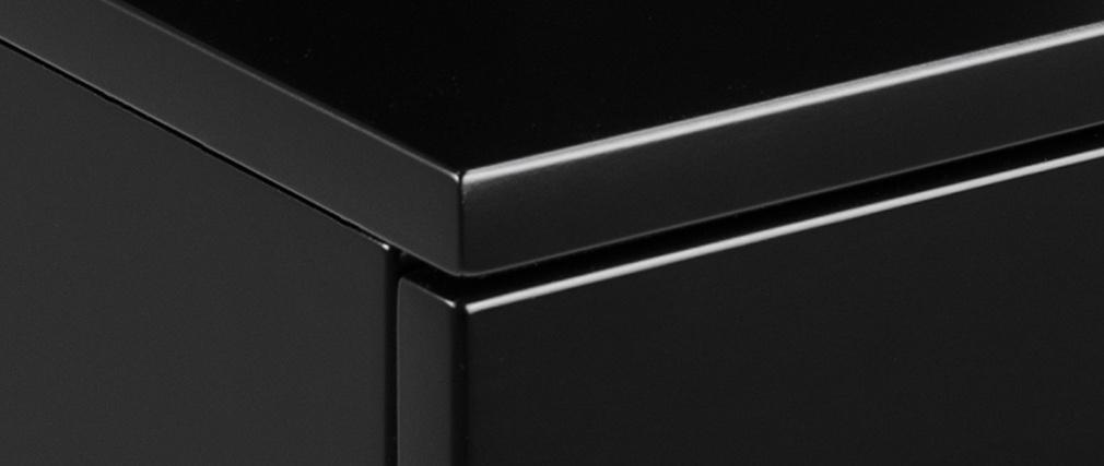 Comodino a parete design laccato opaco nero MITSY