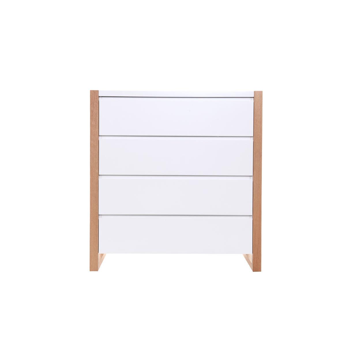 Comodino design 4 cassetti bianco ARMEL