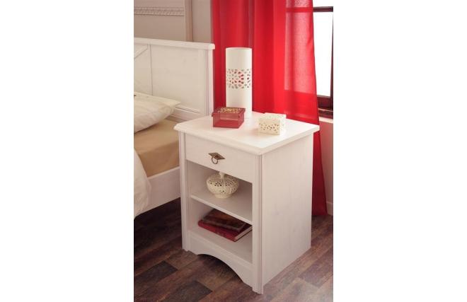 Comodino Design bianco BAROK - Zoom