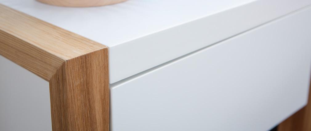 Comodino design colore bianco e quercia ARMEL