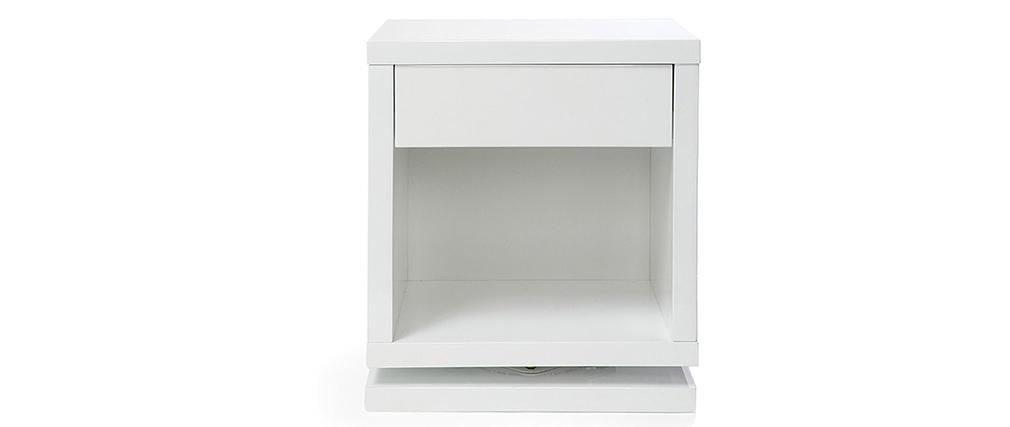 Comodino design girevole bianco lucido MAX