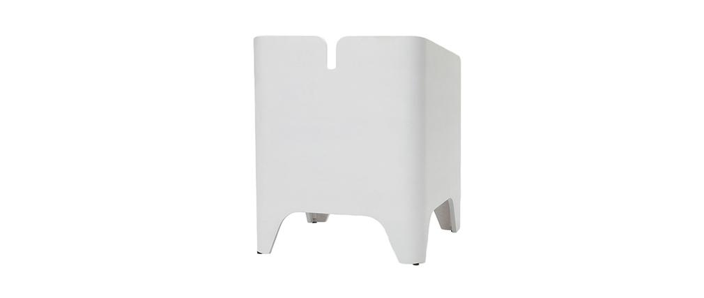 Comodino design in frassino Bianco NEVIL