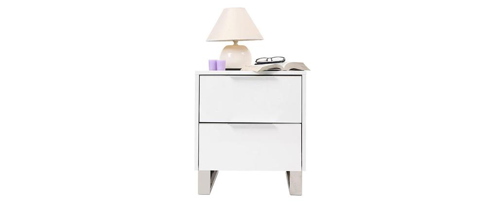 Comodino design laccato bianco HALIFAX
