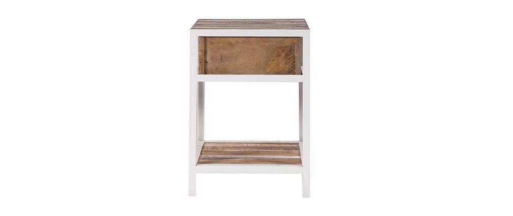 Comodino legno e metallo bianco ROCHELLE