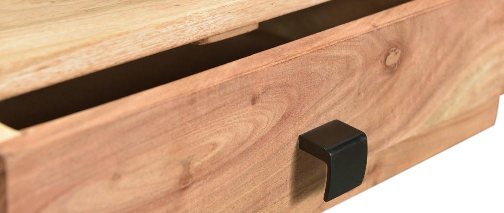 Console 2 cassetti in acacia e metallo GRENELLE