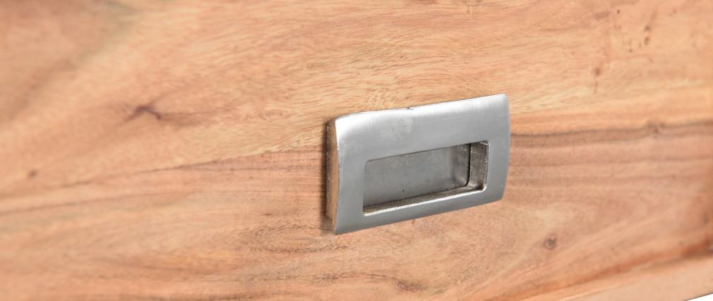 Console 3 cassetti in acacia e metallo nero EDITION