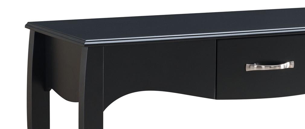 Console design barocco laccata Nero MARGOT