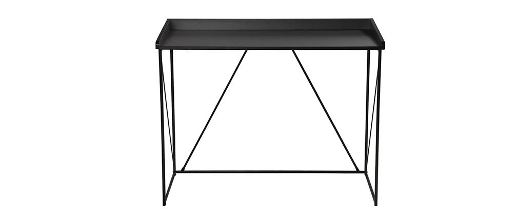 Console design grigio e nero L100 cm WALT