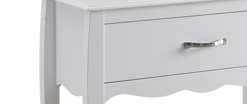 Console design laccata Bianco 1 cassetto MARGOT