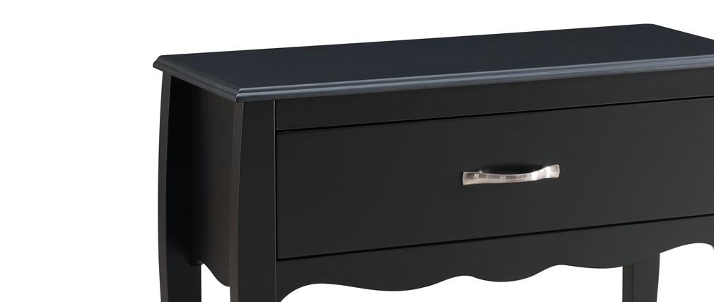 Console design laccata Nero 1 cassetto MARGOT